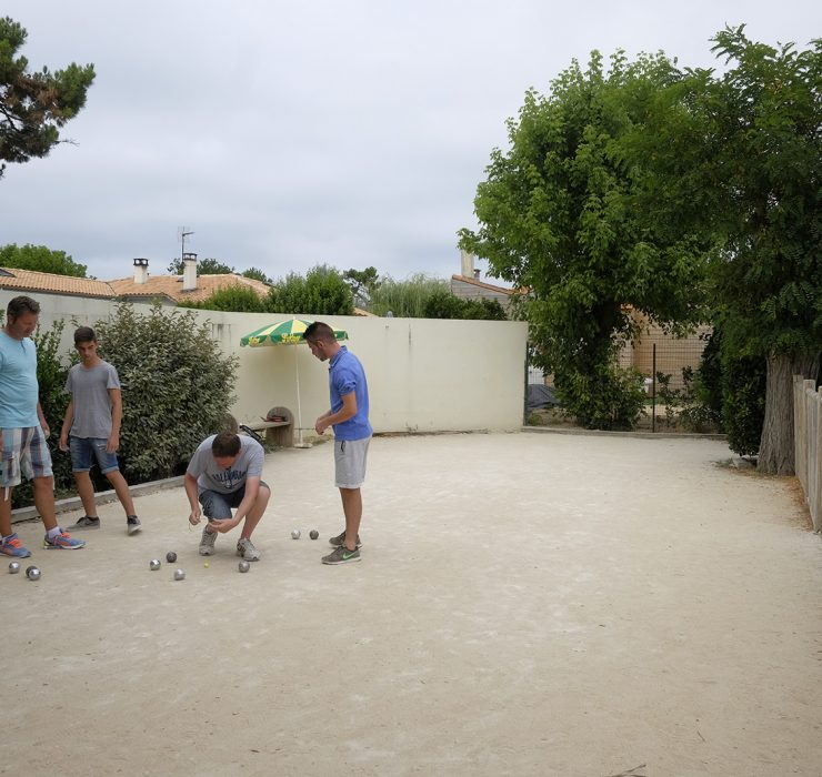 Petanque tournament at Les Tamaris campsite